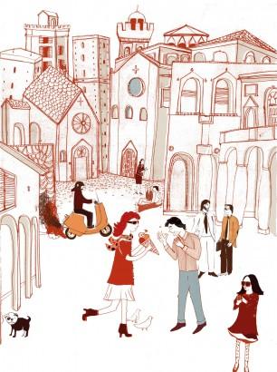Illustration für den Plakatwettbewerb von Human Empire Poster Bologna